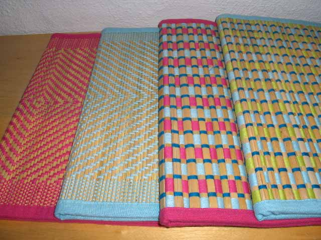 assorted samboo placemats