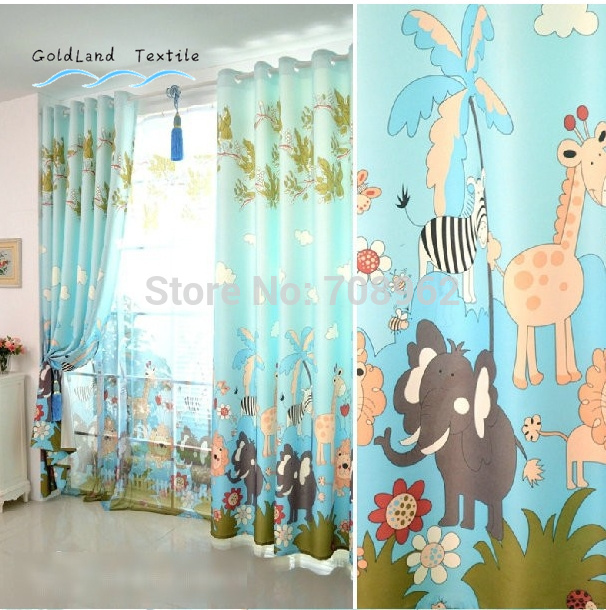 new-Cartoon-shade-cloth-curtains-Children-s-room-blackout-curtain-drapes-One-Panel-